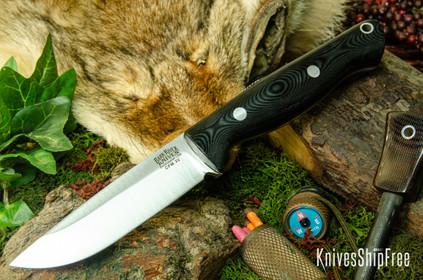 Bark River Knives: Gunny Hunter LT - CPM 3V - Black G-10