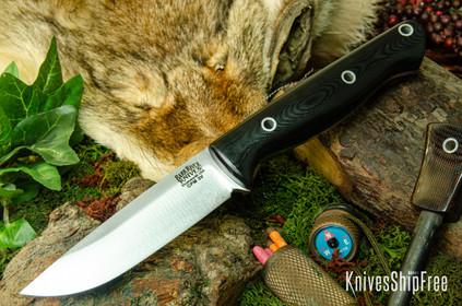 Bark River Knives: Gunny Hunter LT - CPM 3V - Black G-10 - Hollow Pins