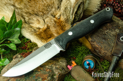Bark River Knives: Gunny Hunter LT - CPM 3V - Black Suretouch - Matte