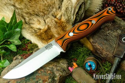 Bark River Knives: Gunny Hunter LT - CPM 3V - Tigerstripe G-10 - Orange Liners