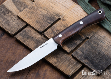 Lon Humphrey Knives: Tucson AEB-L - Tasmanian Blackwood - Black Liners - LH30GG155
