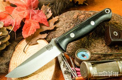 Bark River Knives: Bravo EDC - CPM 3V - Black Canvas Micarta