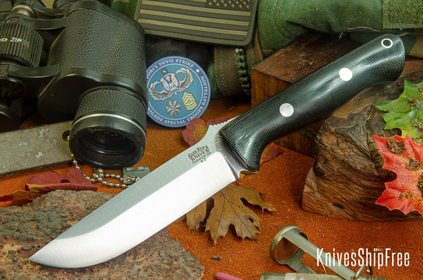 Bark River Knives: Bravo 1.25 - Black Canvas Micarta