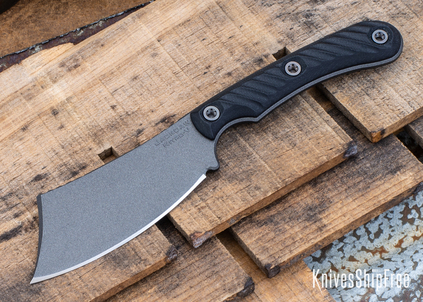 RMJ Tactical: Jackdaw - EDC Cleaver - Nitro-V - Tungsten Cerakote - Black G-10