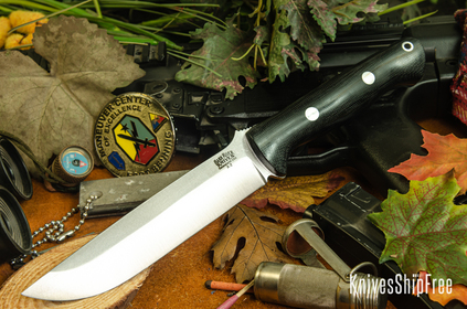 Bark River Knives: Bravo 1.5 - Black Canvas Micarta