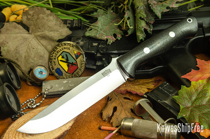 Bark River Knives: Bravo 1.5 - Black Carbon Fiber - Red Liners