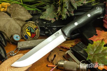 Bark River Knives: Bravo 1.5 - Black Carbon Fiber - Red Liners - Rampless