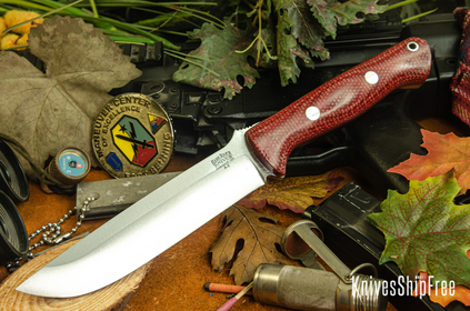 Bark River Knives: Bravo 1.5 - Firedog Canvas Micarta
