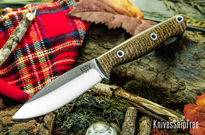 Bark River Knives: UP EDC - Coffeebag - Blue Liners - Hollow Pins