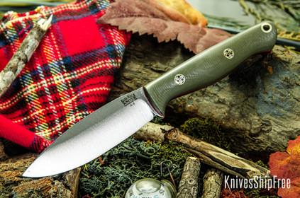 Bark River Knives: UP EDC - Ranger Green G-10 - Red Liners - Mosaic Pins