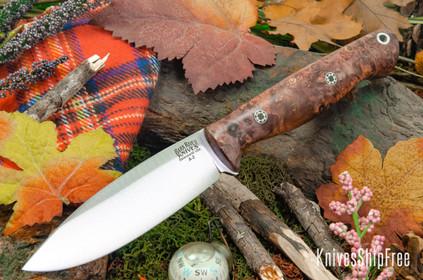 Bark River Knives: UP Gunny - Amethyst Maple Burl - Mosaic Pins