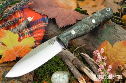 Bark River Knives: UP Gunny - Black & Gray Jute Wood