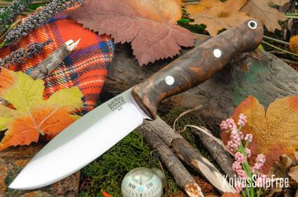 Bark River Knives: UP Gunny - Chocolate Swirl Maple Burl #1