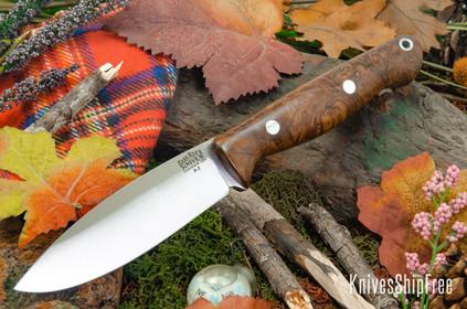 Bark River Knives: UP Gunny - Coffee Bean Maple Burl