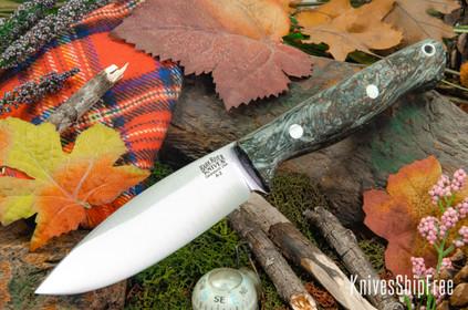 Bark River Knives: UP Gunny - Gray Camo Jute Wood