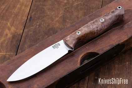 Bark River Knives: UP Gunny - Natural Maple Burl - Mosaic Pins #5