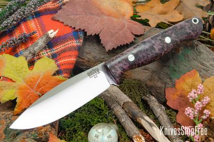Bark River Knives: UP Gunny - Purple Maple Burl