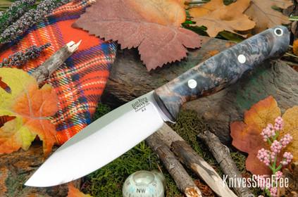 Bark River Knives: UP Gunny - Thunder & Lightning Maple Burl