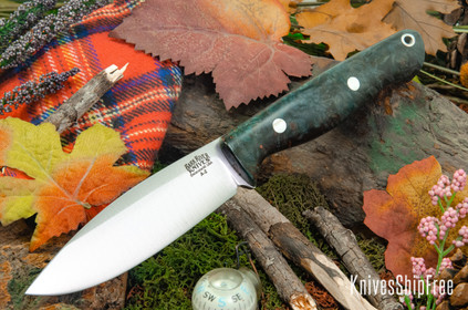Bark River Knives: UP Gunny - Thunderstorm Maple Burl #1