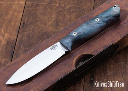 Bark River Knives: UP Gunny - Thunderstorm Maple Burl - Mosaic Pins