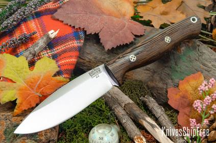 Bark River Knives: UP Gunny - Wenge - Black Liners - Mosaic Pins #2