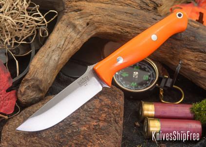 Bark River Knives: Gunny - Blaze Orange G-10 - Black Liners