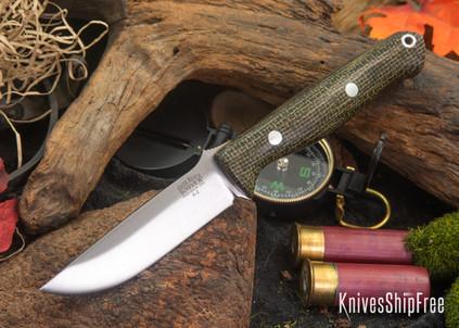 Bark River Knives: Gunny - Evergreen Burlap Micarta