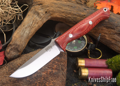 Bark River Knives: Gunny - Firedog Canvas Micarta