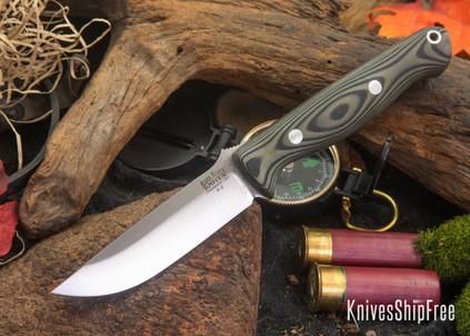 Bark River Knives: Gunny - Green Black Suretouch - Matte