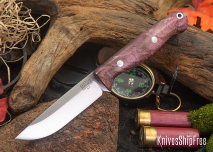 Bark River Knives: Gunny - Lavendar Breeze Maple Burl - Rampless