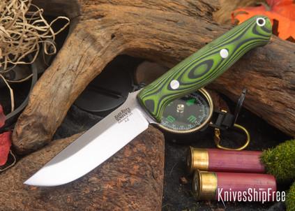 Bark River Knives: Gunny - Light Green Black Suretouch - Matte