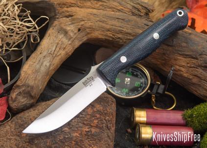 Bark River Knives: Gunny - Navy Burlap Micarta