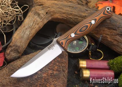 Bark River Knives: Gunny - Orange & Black Suretouch - Matte