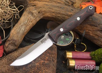 Bark River Knives: Gunny - Red & Black Suretouch - Matte