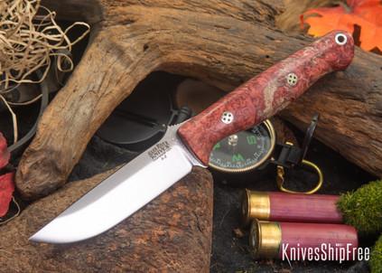 Bark River Knives: Gunny - Rose Maple - Black Liners - Mosaic Pins
