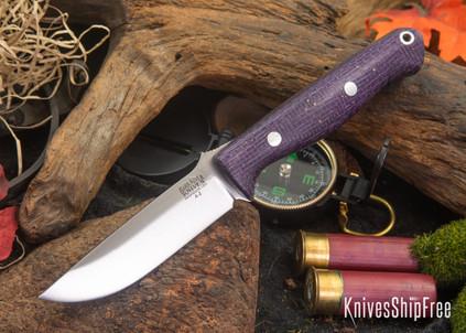 Bark River Knives: Gunny - Royal & Gold Flecked Burlap Micarta