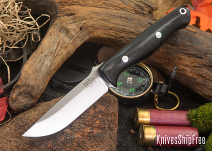 Bark River Knives: Gunny - Black Canvas Micarta