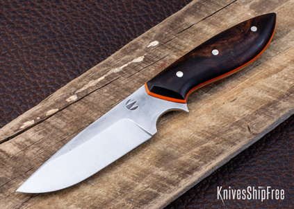 Carter Cutlery: Muteki - Perfect - Arizona Desert Ironwood - Orange G10 Liners - CC01JG002