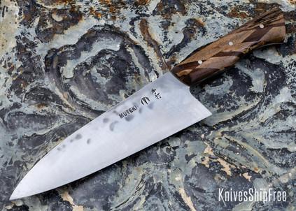 Carter Cutlery: Muteki - Funayuki - Laminate Hardwood - Olive Drab G10 Liners - CC01JG022