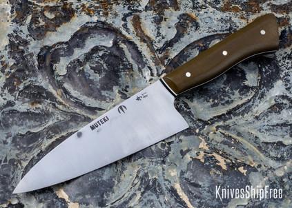 Carter Cutlery: Muteki - Petty Knife - Green Canvas Micarta - White & Black G10 Liners - CC01JG027