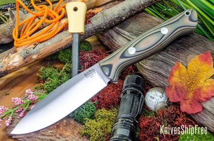 Bark River Knives: UP Bravo - Camo Suretouch - Matte