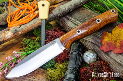 Bark River Knives: UP Bravo - Desert Ironwood - Red Liners - Hollow Pins #2