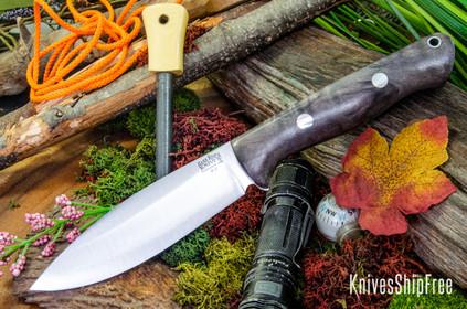 Bark River Knives: UP Bravo - Grey Maple Burl