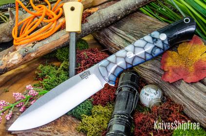 Bark River Knives: UP Bravo - Nebula Dragon Scale - Blue Liners #1