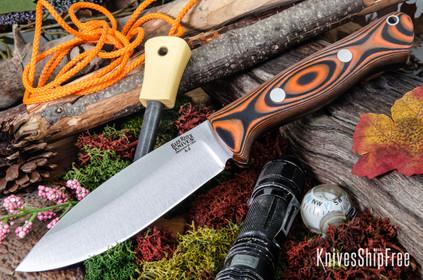 Bark River Knives: UP Bravo - Orange & Black Suretouch - Matte