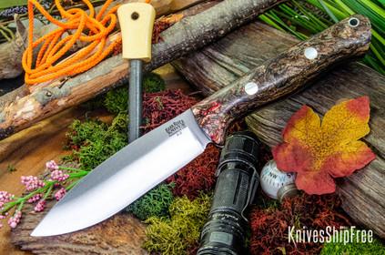 Bark River Knives: UP Bravo - Red Jute Wood