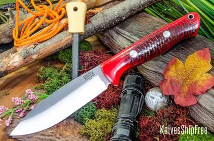 Bark River Knives: UP Bravo - Red Pinecone - Red Liners #1