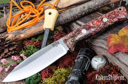 Bark River Knives: UP Bravo - Salmon & Brown Jute Wood