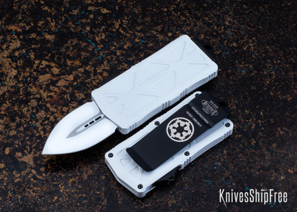 Microtech: Exocet - Stormtrooper - Auto OTF - Double Edge - White Blade - 157-1ST