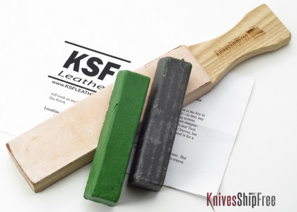 Bark River Sharpening Kit--Double Sided Hone + Compound